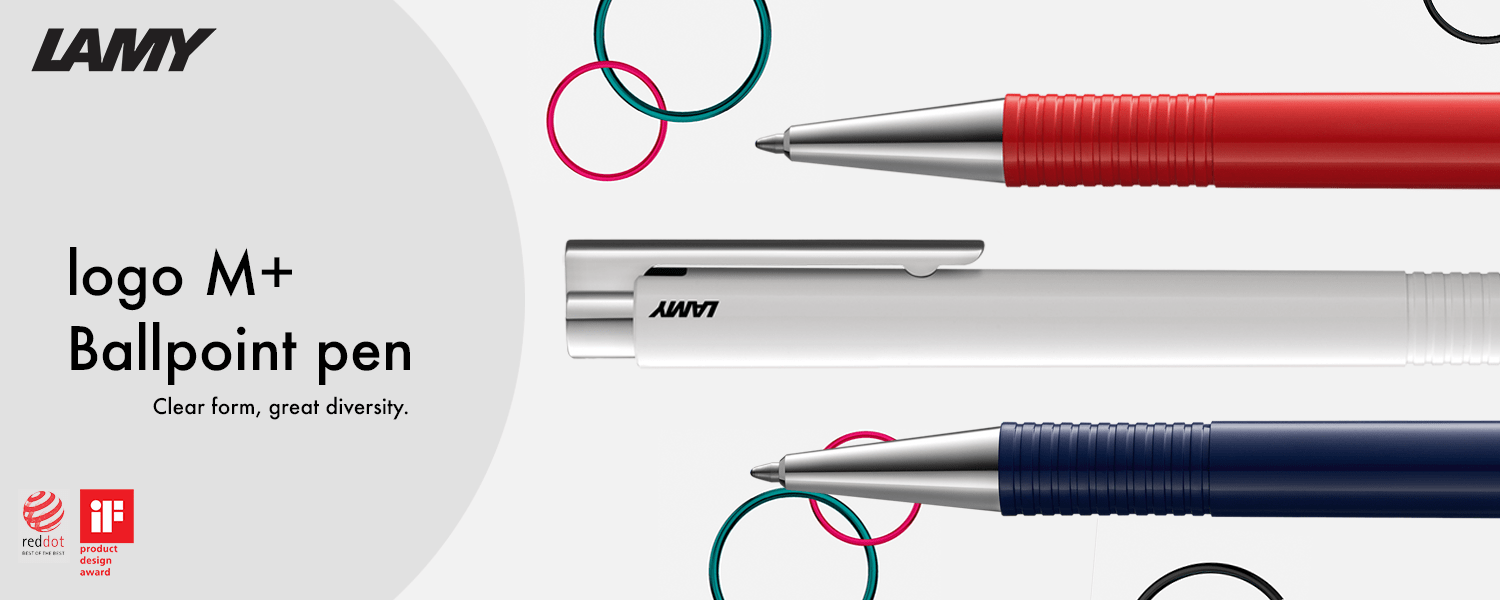 New Arrival LAMY logo M + Ballpoint pen in blue, white and red colours